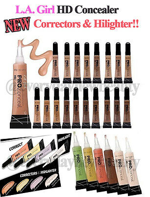 * Pick Any 3 * Authentic LA L.A.Girl HD Pro Concealer, Corrector & Highlighter