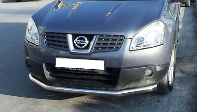NISSAN QASHQAI 2007-2009 Front Spoiler Bar Protection Stainless Steel 70mm