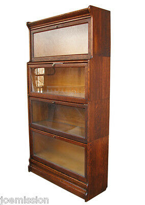 GOOD Antique      Mission       ARTS & CRAFTS Barrister Bookcase w64