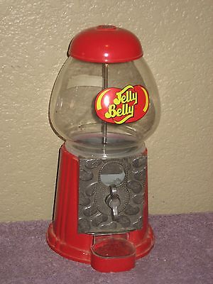 "Glass & Metal Jelly Belly 9"" Red Bubble Gum Candy - Machine Works - Collectable"