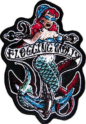 Flogging Molly - Mermaid - Iron on or Sew on Embroidered Patch P-1738