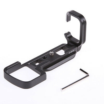 Quick Release L-Plate Bracket Grip for Sony NEX-6 Camera Black