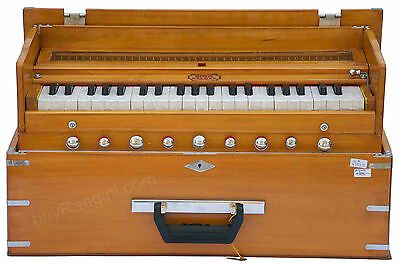 Harmonium Bina No.23 B Delux Folding|Coupler Funct.|Teak Color|42 Key|3½|Bie