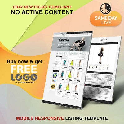 Unique eBay Store Shop Design Listing Auction HTML 2019 Templates Get Free Logo