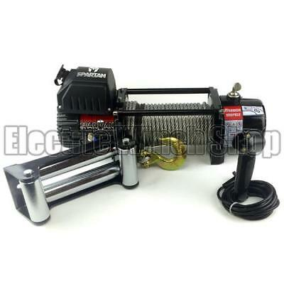 Electric Winch Warrior Spartan 9500lb 12v Steel Rope Recovery 4x4 Warranty