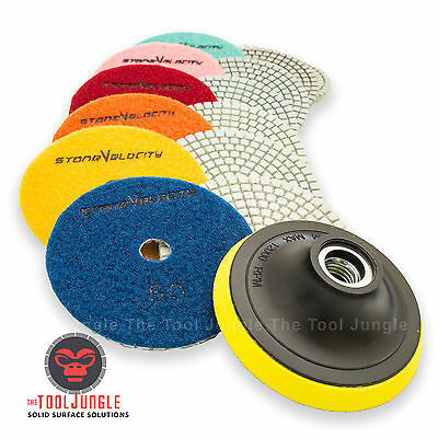 Wet Dry Diamond Polishing Pads 4 Inch Set Kit Granite Marble Concrete 10 PIECE