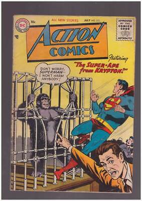 Action Comics # 218  The Super Apr from Krypton !  grade 3.5 Silver Age DC