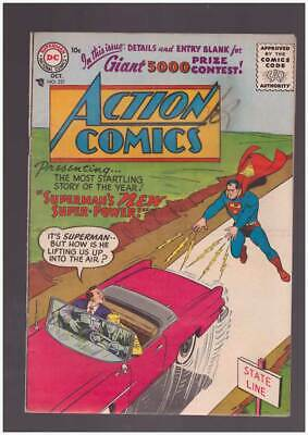 Action Comics # 221  Superman's New Super Power !  grade 3.5 Silver Age DC