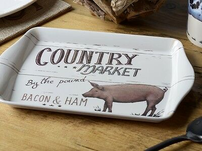 FARMERS MARKET PIG Small Melamine SCATTER TRAY By Creative Tops