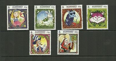 Alderney 2015 Alice's Adventures In Wonderland New Issue  Set Issued 5Th Feb Mnh