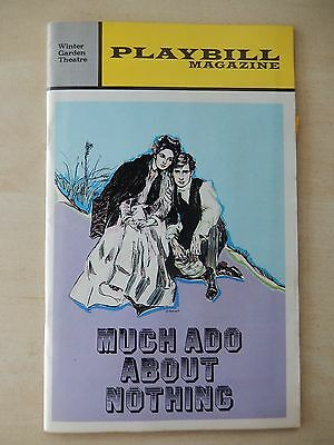 November 1972 - Winter Garden Theatre Playbill - Much Ado About Nothing