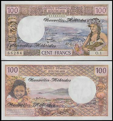 New Hebrides 100 Francs, 1977, P-18d, UNC