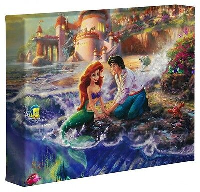 "Thomas Kinkade Disney GWC 8""x10""  -The  Little Mermaid New Item# 64993"