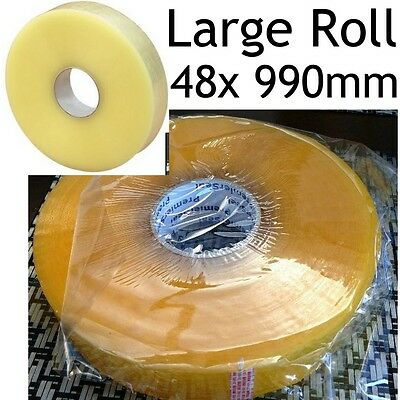 990m Large Roll 48mm Machine Tape sellotape Cellotape Packaging Packing Adhesive
