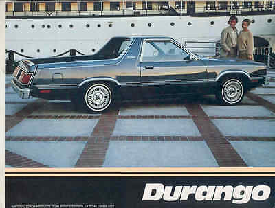 1981 Ford Fairmont Futura National Durango Ranchero Pickup Brochure mx7734