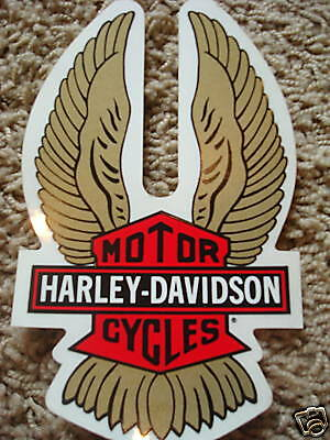 New Harley Davidson Gold Wing Retro Window Decal Sticker Mini Size Lot of 2