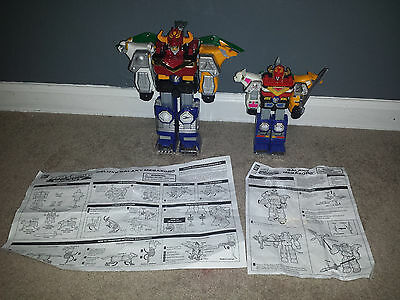 "Power Rangers Deluxe Galaxy Megazord and 9"" Lot"