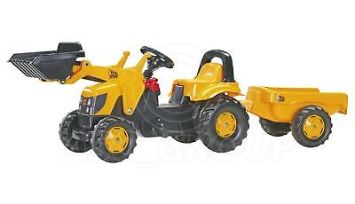 Rolly Toys -  JCB Ride on Pedal Tractor with Loader & Trailer Age 2 1/2 +