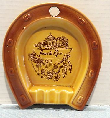 Horse Shoe El Capitolio Capitol Puerto Rico Ashtray Porcelain Wall Hanging