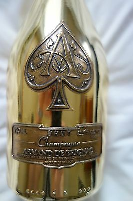 Ace of Spades Armand De Brignac Gold Champagne Bottle, 750 mL, with Cork and Bag