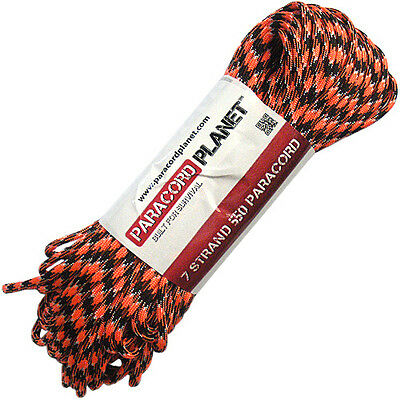 Orange You Happy 550 Paracord Mil Spec Type III 7 Strand Parachute Cord 100ft