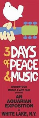 Woodstock - 3 Days Of Peace & Music Poster - 12X36 Music 1969 Festival 12017