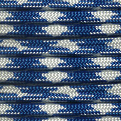 Royal Mountain 100 ft 550 Paracord 7 Strand Parachute Blue and White Pattern