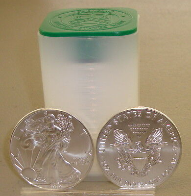 Roll of (20) 2019 1 oz .999 Fine American Silver Eagle Bullion Coins Eagles