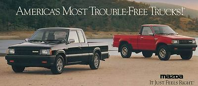 1990 Mazda Truck ORIGINAL Large Factory Postcard my2208