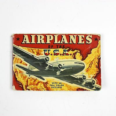ORIGINAL US WWII BOOK - AIRPLANES OF THE USA - 60 FULL COLOR PICTURES