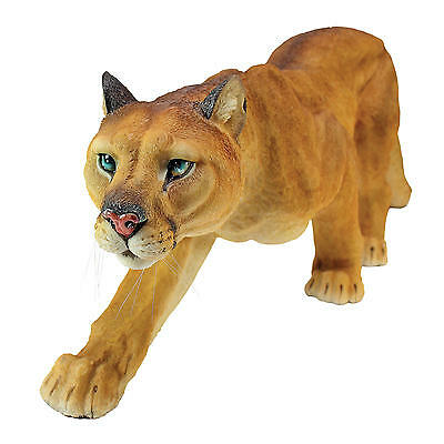 Stalking North American Mountain Cat Sleek Cougar Predator Feline Sculpture