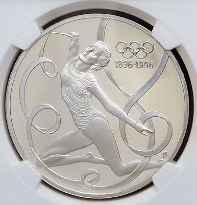 1995 Austria 200 Schilling Silver Proof Ribbon Dancing NGC PF68 UC Atlanta Olymp