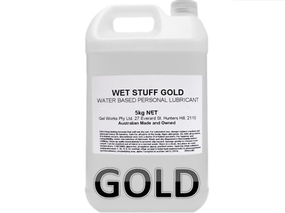 Wet Stuff Gold Water Based Long Lasting Lube 5kg Fun Sex Lubricant Toys Play