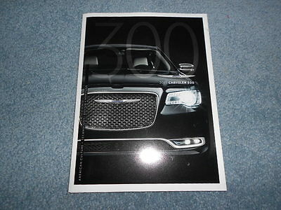 2015 Chrysler 300 Introduction Brochure Poster Fold-Out Naias Detroit Auto Show