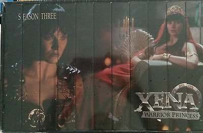 XENA WARRIOR PRINCESS SEASON 3 Collection LUCY LAWLESS  VHS TAPES NEW