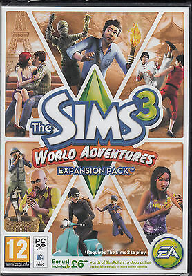 The Sims 3 World Adventures Expansion Pack PC & MAC Brand New Sealed