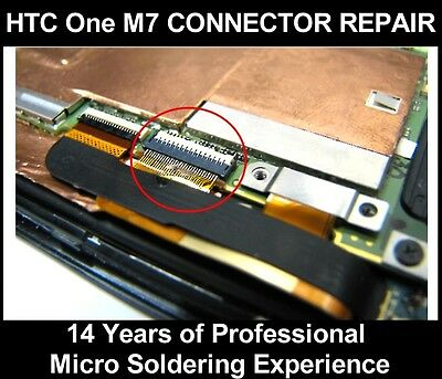 HTC One M7 Motherboard LCD Display Connector Replacement Repair Service