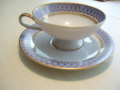 Collectible Porzellan Bavaria - Germany - BLUE PAGEANT - Cup & Saucer Set