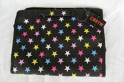 Fold Out with Hanger Toiletry Travel Kit Multi-color Stars NWT