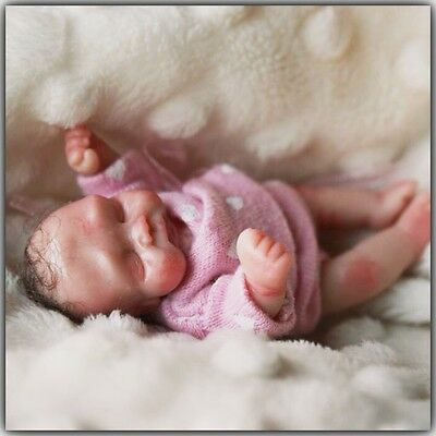 "3"" OOAK polymer clay baby Girl art doll hand sculpted by *MvLTinyArt creations*"