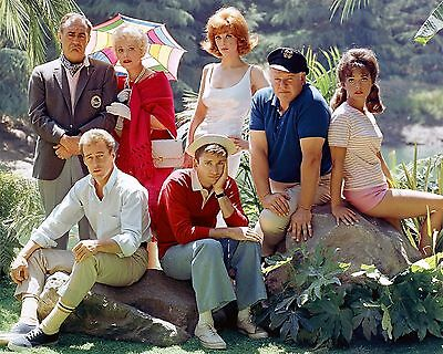 Gilligan's Island Cast Tv Show 1960's 8X10 Glossy Photo Photograph Picture Wow