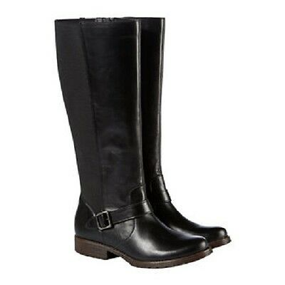Kenneth Cole New York Jenny Leather Boot-Black Women 8 Black 872180