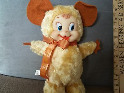 VINTAGE RUSHTON STAR CREATION CHEESY MOUSE RUBBER FACE STUFFED ANIMAL