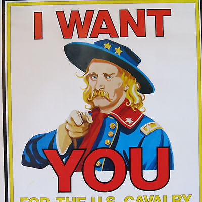 """GEORGE A. CUSTER """"I Want You"""" 22x17 inch poster"""