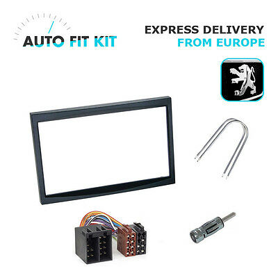 Peugeot 207 307 -  2006 2 Din Double DIN Fascia Radio Stereo Replacement Kit