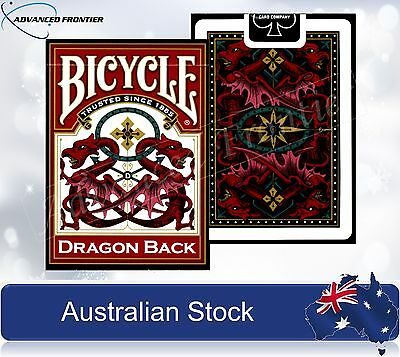 BICYCLE Dragon Back Red Premium Poker Playing Cards Deck Brand New & Sealed