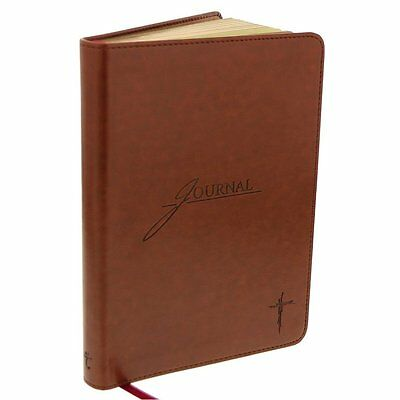 Saddle Tan Flexcover Journal with Cross by Christian Art Gifts (OOO)