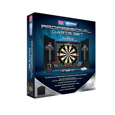 Winmau Professional Dart Set - Comes With Dartboard - Darts and Cabinet - Sale!