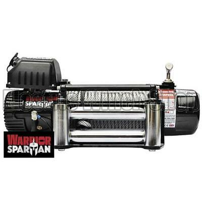 Electric Winch Warrior Spartan 9500lb 24v Steel Rope Recovery Long Warranty