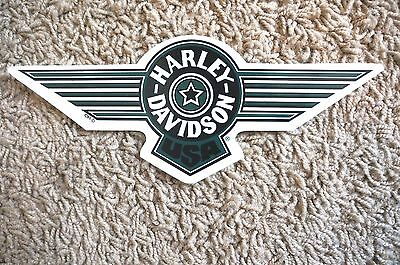 "New Harley Davidson Green Fat Boy USA Decal Sticker Small Sized 8.5"" Outside"